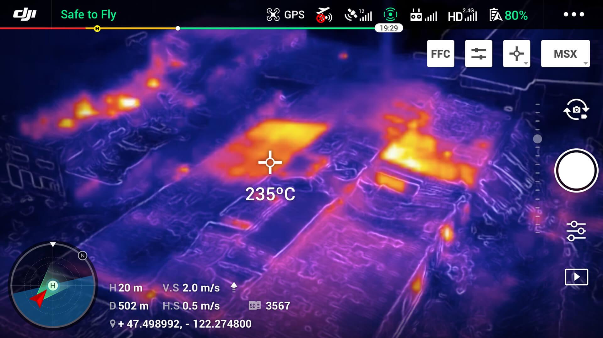 IR-Bild Brandschutz