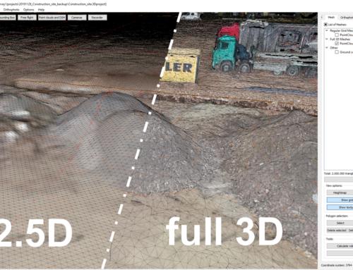Was ist neu in 3Dsurvey 2.10.0? – 3D-Mesh, Sie entscheiden